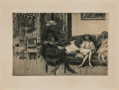 Édouard Vuillard, 'Intérieur au canapé, alternatively titled Soir', c. 1930