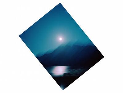 Kevin Cooley, '51°14.851 N 115°30.037 W Moonrise Banff National Park', 2015