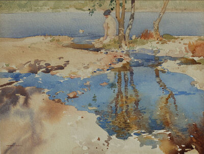 William Russell Flint, 'Reflections', ca. 1920