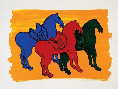 "Malcolm Morley, '""Ancient Chinese Horses"" For Parkett 52', 1998"