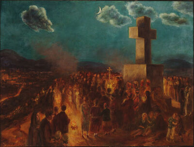 John Sloan, 'Procession to the Cross of the Martyrs', 1930