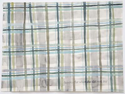 Julia Kuhl, 'Domestic Textiles Series, Famous', 2018