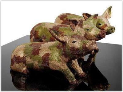 Mauro Perucchetti, '   Still Three Little Pigs'