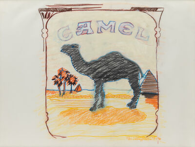 Larry Rivers, 'Blue Line Camel'