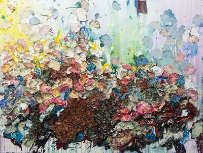 Zhuang Hong Yi, 'Composition #815 - large, floral, textured, origami, bright, colourful resin art', 2012