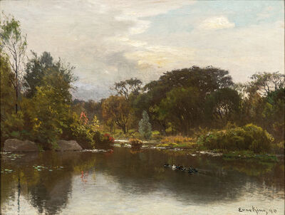 John Joseph Enneking, 'Duck Pond in Early Autumn'