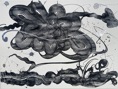 Catherine Howe, 'Carborundum and Silver (large flower)', 2021