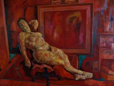 Benjamín Lafuente, 'Nude at the studio', 2015