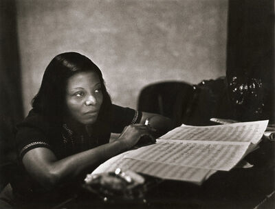 "W. Eugene Smith, 'Mary Lou Williams (From ""Recording Artists Series)', 1947/1970s"