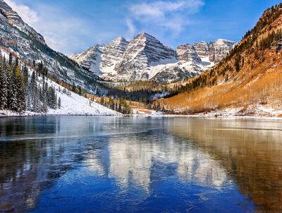 Andrew Prokos, 'Icy Lake, Maroon Bells', ca. 2012