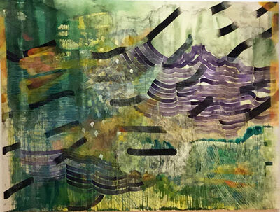 Alyse Rosner, 'Parting (Green)', 2018