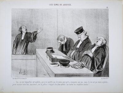 Honoré Daumier, 'Oui, on veut dépouiller cet orphelin (Yes, we want to deprive the orphan)', 1845