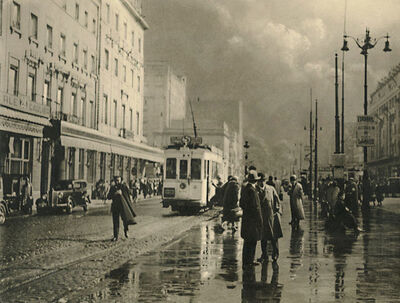 Léonard Misonne, 'Rainy Street with Tram in Brussels, Belgium', 1937/1937
