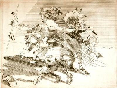 "Claude Weisbuch, '""Le Chevalier de la Mancha"" original handsigned drypoint', 2008"