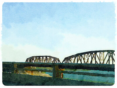 Anne M Bray, 'Bridge, South Texas', 2014