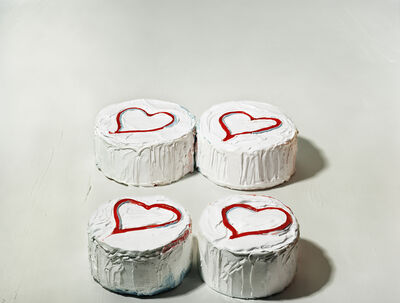 """Sharon Core, 'Four Heart Cakes, from the series """"Thiebauds""""', 2004"""
