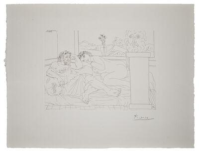 Pablo Picasso, 'Vieux Sculpteur Grec avec  Modèle, Vase aux trois Anémones et Autoportrait sculpté', 1933 (April 4-Paris)