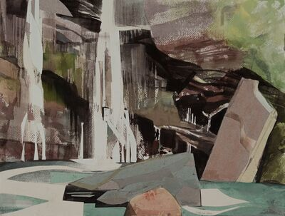 Mariella Bisson, 'Red Cliff, Blue Pool, Fallen Rocks', 2019
