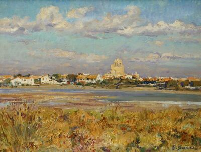 Nicolai Barrera, 'View of Saintes-Maries-de-la-Mer', 1968