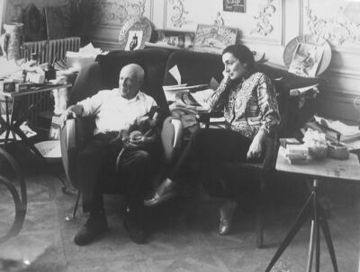 Edward Quinn, 'Picasso and Jacqueline, Cannes (first picture taken after their wedding).', 1961