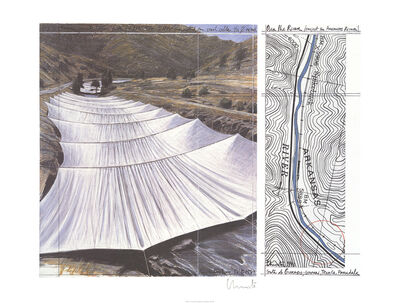 Christo, 'Over the River, Project for Arkansas River', 1996