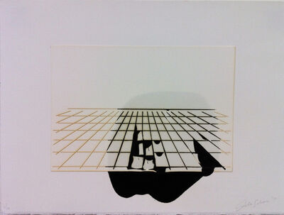 "Analia Saban, '""Ink on and Bellow paper, Offset Perspective""', 2010"