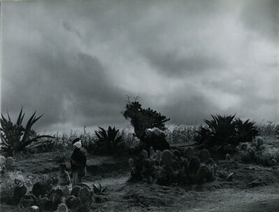 Antonio Reynoso, 'A peasant family in a bleak landscape under a cloudy sky', ca. 1976