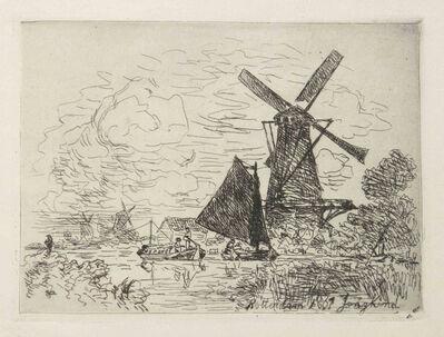 Johan Barthold Jongkind, 'Moulins en Hollande', 1867