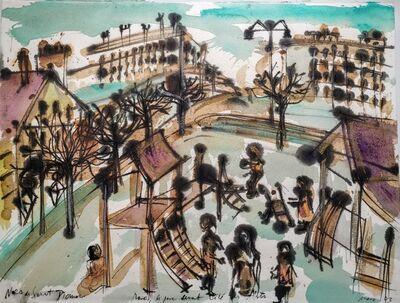 Norma de Saint Picman, 'Souvenirs de Paris - L'enfance, Vers La Bibliothèque Fornay', 2003