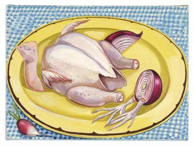 Nikki Maloof, 'Chicken and Yellow Plate', 2021
