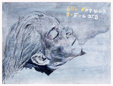 Margaret Harrison, 'Marilyn is Dead! (blue-grey)', 1994