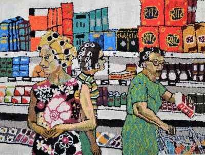 Mary Tooley Parker, 'Marceil, Cynthia, and Ruth at the Piggly Wiggly', 2021