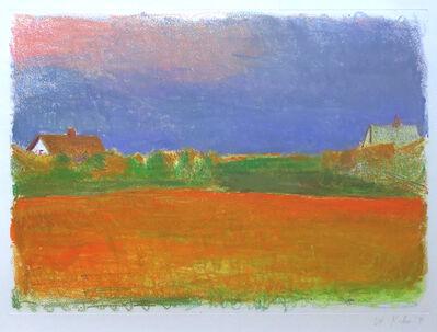Wolf Kahn, 'Orange Foreground (State II)', 1991