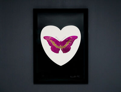 Damien Hirst, 'I Love You, Butterfly, Fuchsia, Black, & White', 2015