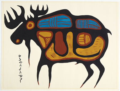 Norval Morrisseau, 'Moose', ca. 1970