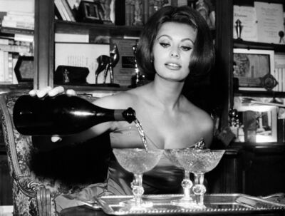 Globe Photo Archives, 'Sophia Loren Pouring Champagne', 1963