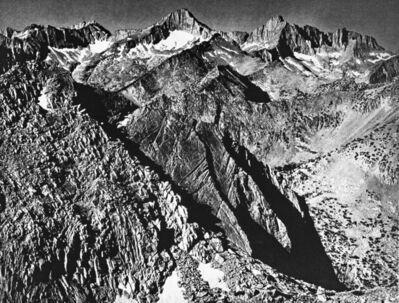 Ansel Adams, 'Mount Brewer Group from Glen Pass', 1939