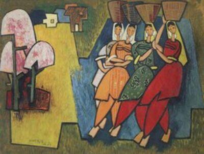 Gulam Rasool Santosh, 'Untitled', 1955
