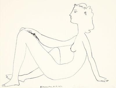 Pablo Picasso, 'Nu assis, de profil', 1947