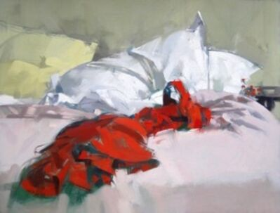 Maggie Siner, 'Red Dress on Bed', 2017