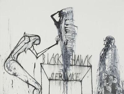 José Bedia, 'Black Hawk Service', 1997