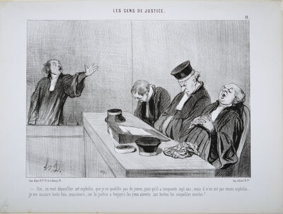 Honoré Daumier, 'Oui, on veut dépouiller cet orphelin (Yes, we want to deprive the orphan)', 1845