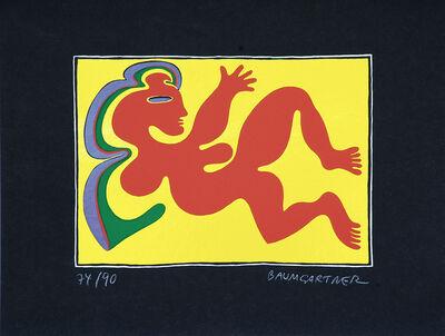 Fritz Baumgartner, 'Woman Shape on Yellow', ca. 1970