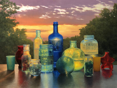 Scott Prior, 'Bottles at Sunrise', 2019