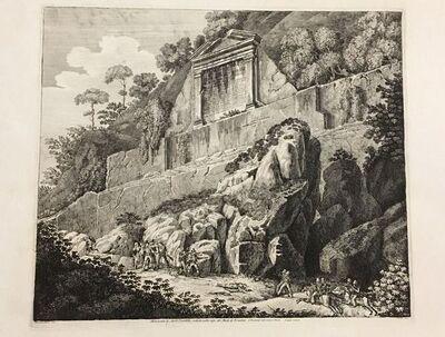 Luigi Rossini, 'Testamento di Aulo Quintilio  (...) Monte di Ferentino', 1825