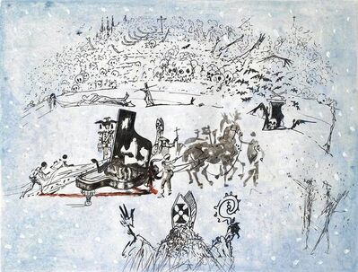 Salvador Dalí, 'Piano Under Snow', 1966-1967