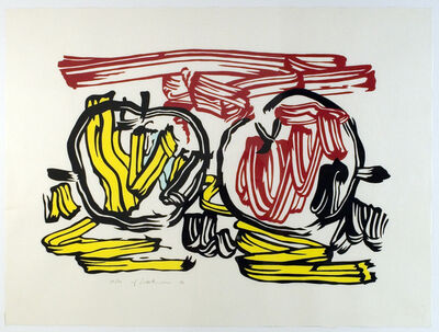 Roy Lichtenstein, 'Red Apple and Yellow Apple', 1983