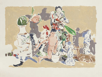 Viola Frey, 'Untitled (Manikin Man with Figurines)', 1974