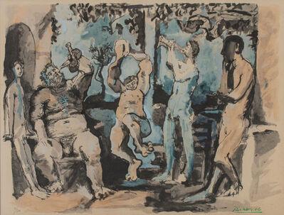 Pablo Picasso, 'Bacchanale, from La Flute Double', 1967