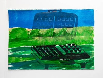 "Iain Baxter&, 'Iain Baxter& ""Deflecting Landscape"" Conceptual Monoprint Painting', 20th Century"